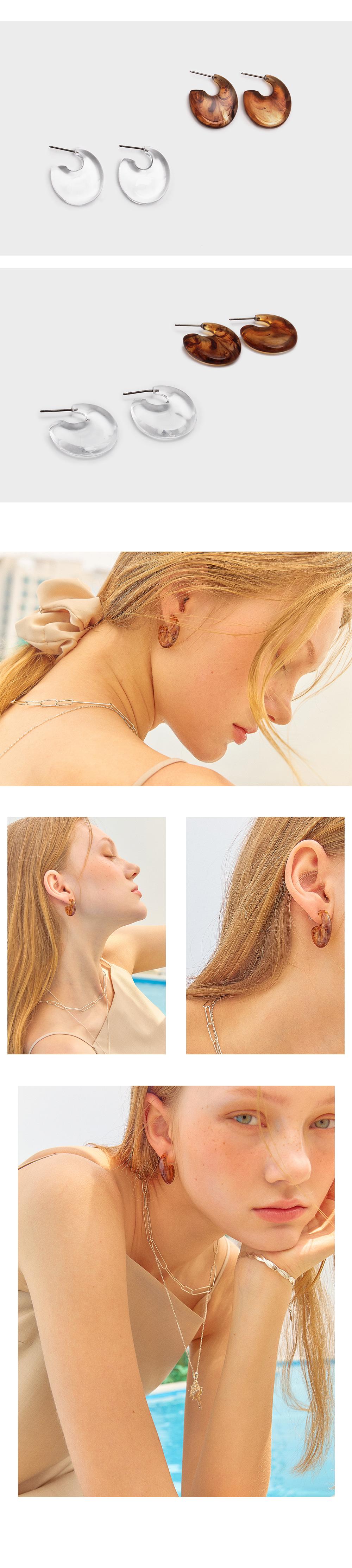 포스트루드(POSTLUDE) ACL ROUND EARRING (2 COLOR)